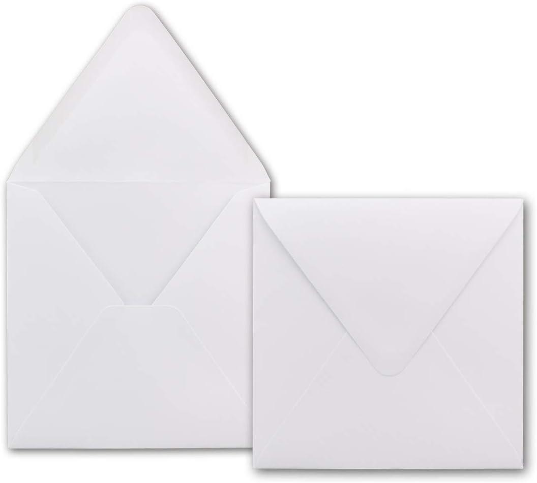 75 Quadratische Briefumschl/äge Wei/ß 15,0 x 15,0 cm 120 g//m/² Nassklebung Post-Umschl/äge ohne Fenster ideal f/ür Weihnachten Gru/ßkarten Einladungen von Ihrem Gl/üxx-Agent
