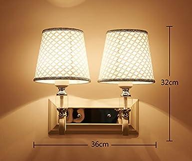 DFHHG® Wandleuchte Modern Einfache Led Nachttischlampe Schlafzimmer  Kreative Europäische Stil Amerikanischen Stil Wohnzimmer Treppen  Amerikanisches