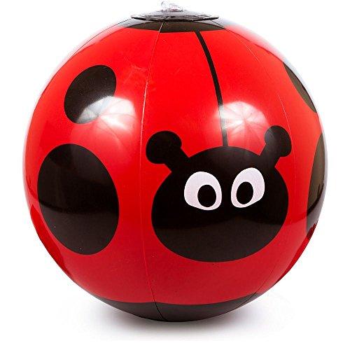 B Themed Costume Idea (1pc - Inflatable Ladybug Beach Ball, Size 9 inch)