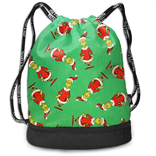 PSnsnX Backpack The Grinch Stole Christmas Sports Gym Cinch Sack Bag For Gym Traveling Gymsack Sackpack