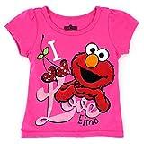 Sesame Street Elmo Girls Short Sleeve Tee (Baby/Toddler)