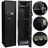 Electronic Rifle Gun Safe Large Firearms Shotgun Storage Cabinet with Small Lock Box