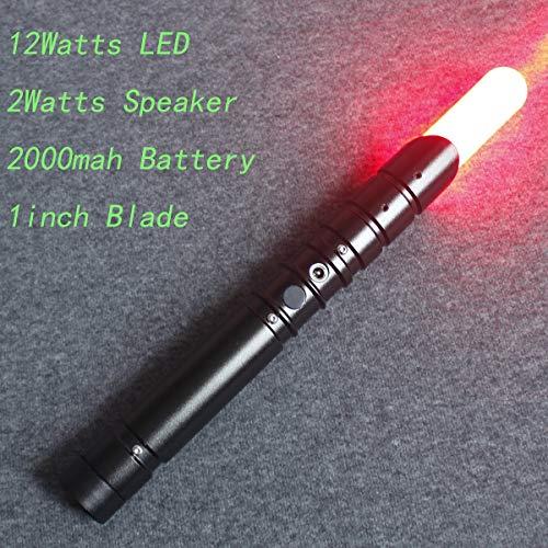 YDD Yddsaber Fx Lightsaber Toy Star Wars Saber Force Lightsaber with Sound and Light, Metal Hilt (Black hilt red Blade) by YDD (Image #3)