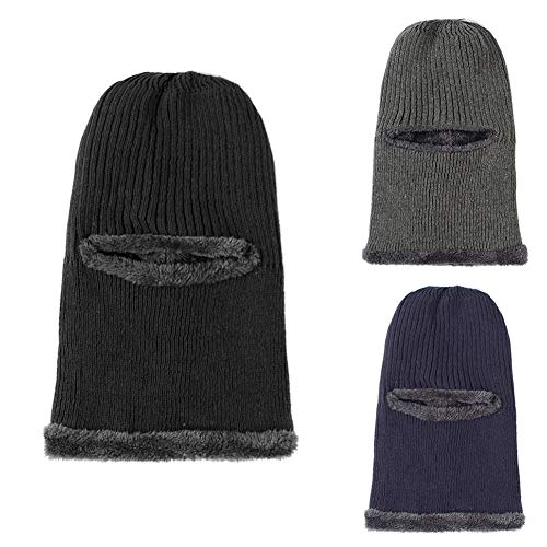 Beanie D Ski Men Face Blue Windproof Winter Hat Warm Mask syana8 Navy Solid Color Knitted Balaclava 0rt7w0q4