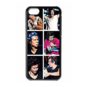 wugdiy Customized Hard Back Case Cover for iPhone 5C with Unique Design Harry Styles