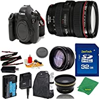 Great Value Bundle for 6D DSLR – 24-105MM L + 32GB Memory + Wide Angle + Telephoto Lens + Backpack
