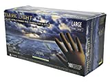 Adenna Dark Light 9 mil Nitrile Powder Free Exam Gloves (Black, Large) Box of 100 - Pack of 2