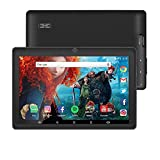 7 inch Tablet Google Android 8.1 Quad Core 1024x600 Dual Camera Wi-Fi Bluetooth 1GB/8GB Play Store Netfilix Skype 3D Game Supported GMS Certified(Black)