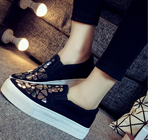 Chaussures De Toile Satuki Pour Les Femmes, Tirez Sur Plate-forme Décontractée Confort Espadrilles De Mode Mocassins Argent