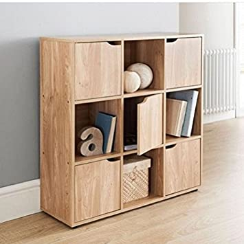 great gift wooden storage cube system bookcase unit cabinet display