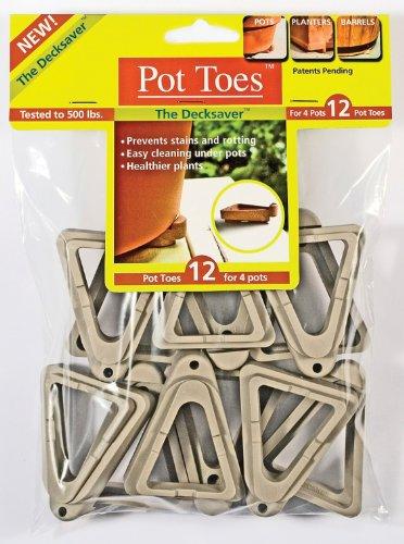 Plantstand PT-12LGHT 12-Pack Light Grey Pot toes - Pot Toes