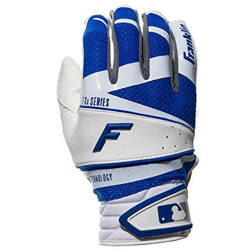 Franklin Sports Freeflex Pro Series Batting Gloves White/Royal Adult X-Large