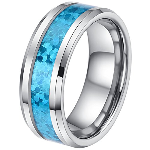 Tungsten Carbide Opalescent Engagement Polished product image