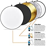 Vivider (TM) 43-inch / 110cm 5-in-1 Collapsible Multi-Disc Light Photography Reflector with Bag - Translucent, Silver, Gold, White and Black