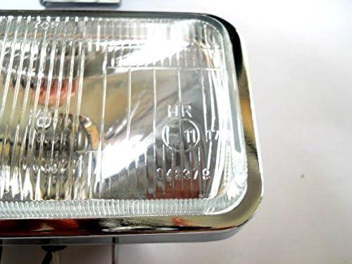 tout-terrain 4/x 4/Suv brouillard Jour Spot LED et lampes halog/ènes rectangulaire avec finition chrom/ée 2/x 12/V voiture camion