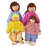 SODIAL(R) Happy Doll Family of 4 People