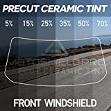 MotoShield Pro Precut Ceramic Tint Film [Blocks Up to 99% of UV/IRR Rays] Window Tint for Cars - Front Windshield Only, Any Tint Shade