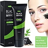 Blackhead Remover Mask, Fypo Black Peel Off Face Mask 75g, Charcoal Deep Pores Cleansing Acne Treatment and Oil Control