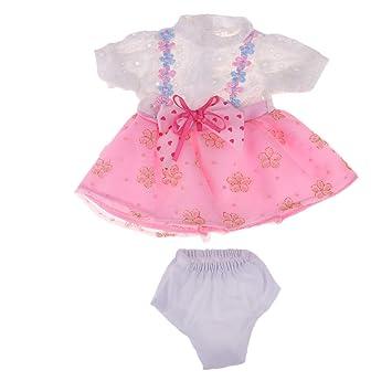 Amazon.es: Homyl Vestido Floral Falda Volante con Calzoncillo en ...