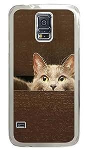 Samsung Galaxy S5 Hide the cat PC Custom Samsung Galaxy S5 Case Cover Transparent