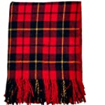 100% Scottish Wool Tartan Rug - Walla...