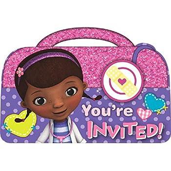 Amazoncom Doc McStuffins Birthday Party Invitations Cards Supply