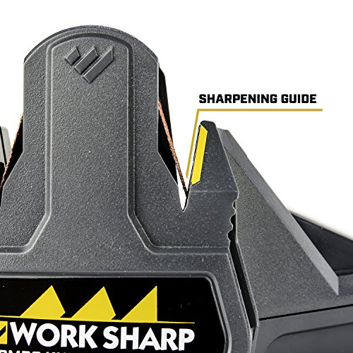 Work Sharp Combo Knife Sharpener - Bench-top Solution for Sharpening Outdoor Knives, Pocket Knives, Kitchen Knives, and serrations.