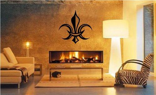 Global Graffix Fleur de lis Style 3 wall decal sticker home decor 23