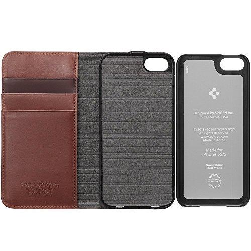 Spigen SGP10520 Snap S Series Case für Apple iPhone 5S/5 braun