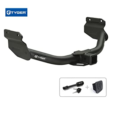 Tyger Auto TG-HC3D0178 Class 3 Trailer Hitch Combo with 2  Receiver Cover & Pin Lock for 2011-2016/2018-2019 Dodge Durango & 2017 Durango (Without Full Size Spare) / 2011-2018 Jeep Grand Cherokee