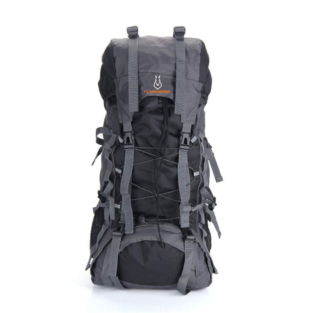アウトドア 旅行 バックパック メンズ レディース キャンプ 登山 ハイキング バックパック B07KGCMPP9 ブラック 50 - 70L
