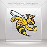 Sticker Bee Hornet Fighter Car door Hobbies Sports car Durable Racing Motorbi (3 X 2.88 In)