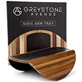 """Adjustable Narrow to Extra Wide Sofa Arm Table - Wooden Sofa Couch Arm Covers 