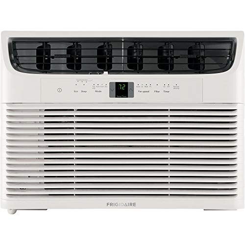 Frigidaire 12,000 BTU 115V Window-Mounted Compact Air Conditioner with Remote Control, White