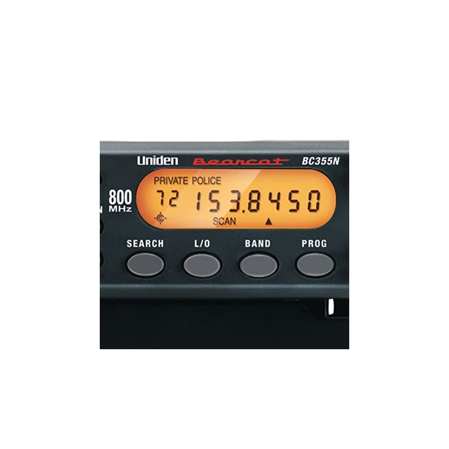 "Uniden BC355N 800 MHz 300 Channel Base/Mobile Scanner. Close Call RF Capture Technology. Pre programmed Service Search. ""Action"" Bands to Hear Police, Ambulance, Fire, Amateur Radio, Public Utilities, Weather, and More."