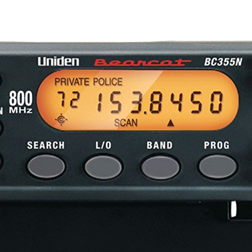 """Uniden BC355N 800 MHz 300 Channel Base/Mobile Scanner. Close Call RF Capture Technology. Pre programmed Service Search. """"Action"""" Bands to Hear Police, Ambulance, Fire, Amateur Radio, Public Utilities, Weather, and More."""