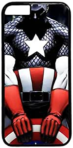 Captain America Art Retro Vintage Design iPhone 6 (4.7 inch) Hard Shell Case Cover by iCustomonline