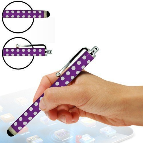 N4U Online - Apple Iphone 4 Polka Dot High Sensitive Stylus Pen - Pourpre