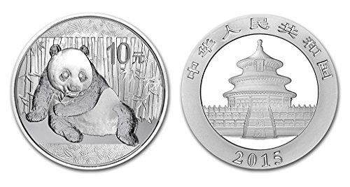 2015 CN Chinese Panda Silver Coin 1 Ounce Silver Dollar Uncirculated Mint