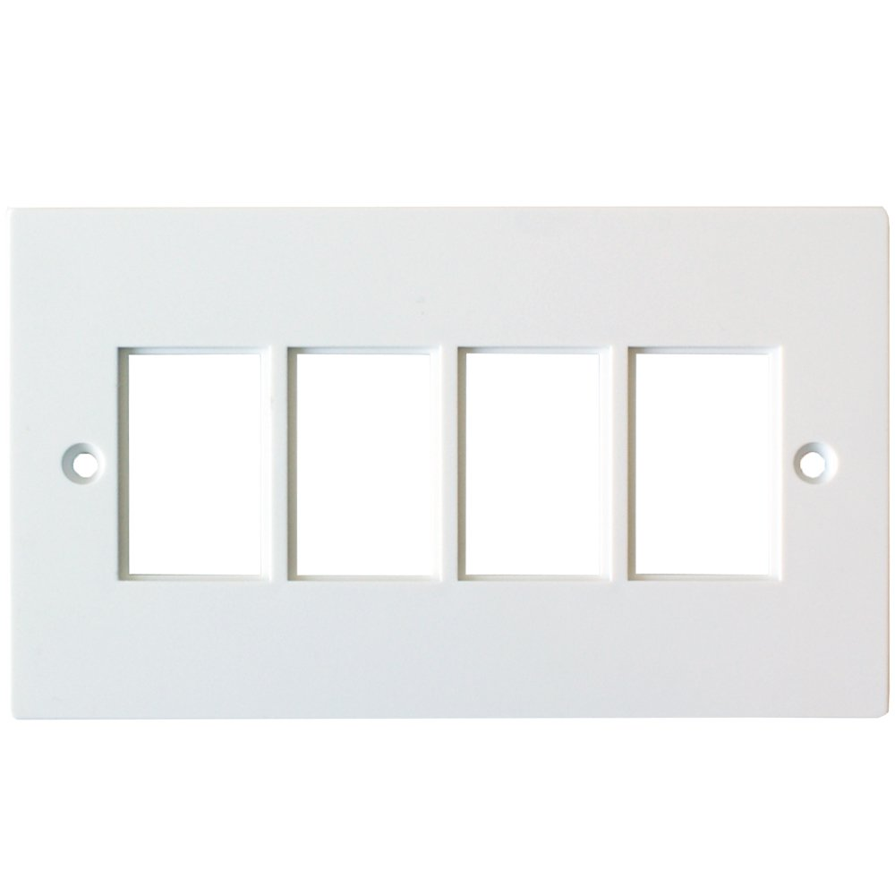 Loops Quad 4x Gang Module//Modular Frames LJ6C Wall Outlet Face Plate Cable Tidy 25x38mm
