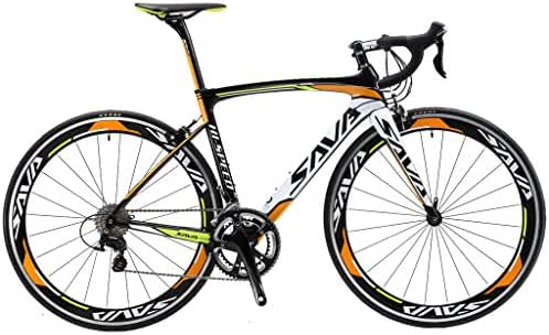 SAVADECK T700 Carbon Fiber 700C Road Bike with SHIMANO 3000 18 Speed Derailleur System and Double V Brake