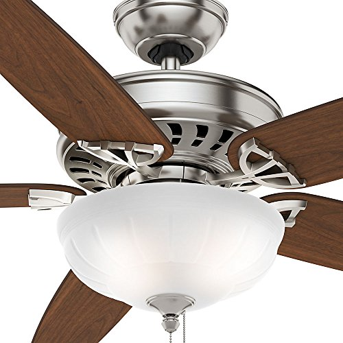 Casablanca 54023 Concentra Gallery 54-Inch 5-Blade Single Light Ceiling Fan, Brushed Nickel with Walnut/Burnt Walnut Blades and Cased White Glass Bowl Light by Casablanca (Image #8)