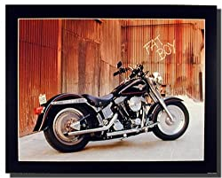 Harley Davidson Fat Boy Motorcycle Bike Art Print Poster (16x20)