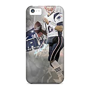 High Quality OTBOX New England Patriots Skin Case Cover Specially Designed For Iphone - 5c
