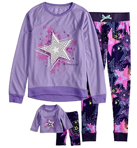 Girls Amercian Girl Pajama and Matching Doll Set 4pc PJS (7/8)