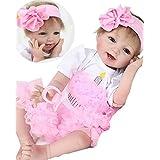 "NPK Realistic Reborn Baby Doll Girl Newborn baby Silicone Vinyl 22"" Handmade Weighted Body Pink Tutu Skirt"