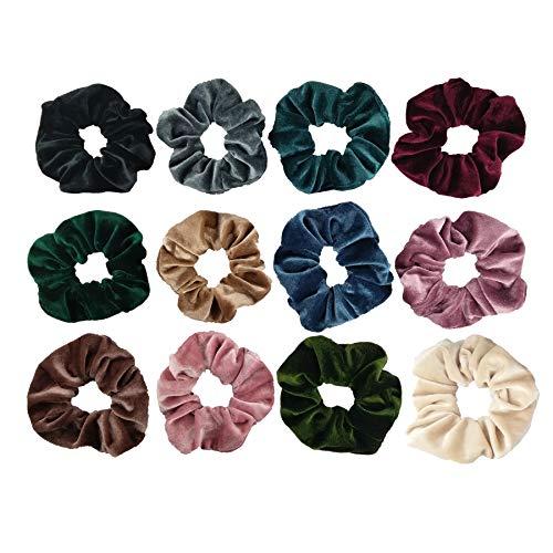 Velvet Hair Scrunchies Assorted Elastic Bands Ties Ropes Women Girls Accessories