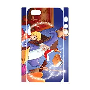 Durable Rubber Cases iphone5 5S 3D Cell Phone Case White Pomvp The Sword in the Stone Protection Cover