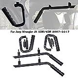Automotive : Bentolin Black Solid Steel Front & Rear Grab Handles GraBars Kit For 2007-2017 Jeep Wrangler JK JKU Sports Sahara Freedom Rubicon X & Unlimited X 2/4 door (Front&Rear Grab bar 01)