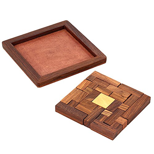 ShalinIndia Handmade Indian Wood Jigsaw Puzzle - Wooden Toys for Kids - Travel Games for Families - Unique Gifts for Children by ShalinIndia (Image #2)